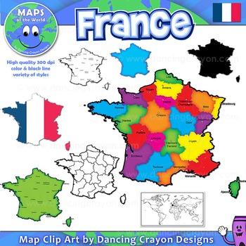 Maps of France: Clip Art Map Set