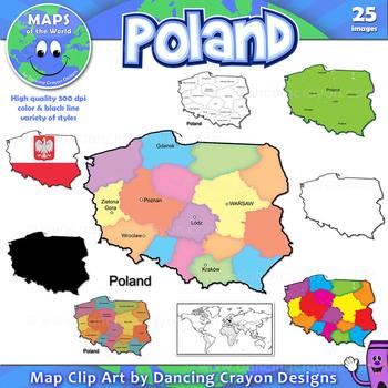 Maps of Poland: Clip Art Map Set