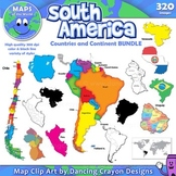 Maps of South America: Clip Art Map BUNDLE