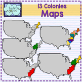 Maps of the 13 colonies