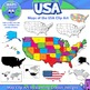 Maps of the USA and US States - Clip Art BUNDLE