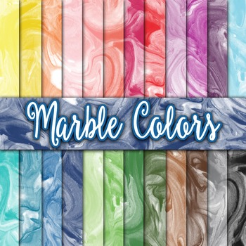 Marble Colors Texture - Digital Paper Pack - 24 Different