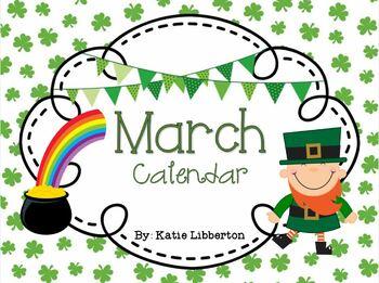 March 2017 Kindergarten ActivInspire Calendar