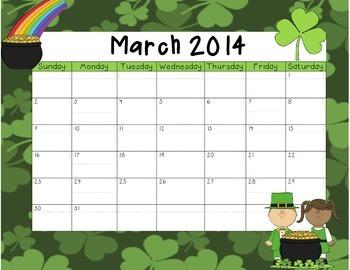 March 2014 Calendar Freebie!!