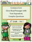 March 3rd - Close Read Comprehension Passages w/Complex Te