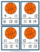 March Basketball Numbers In Between Clip Cards