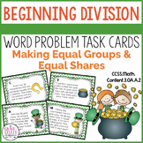 Beginning Division Word Problem Task Cards
