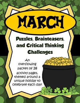 March Brain Teasers and Critical Thinking Challenges- Enri