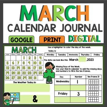 March Calendar Math Meeting