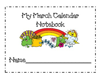 March Calendar Journal Pages