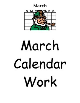 March Calendar Work/ March Vocabulary/ Autism