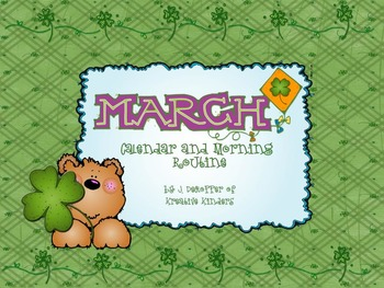 March Calendar and Morning Routine