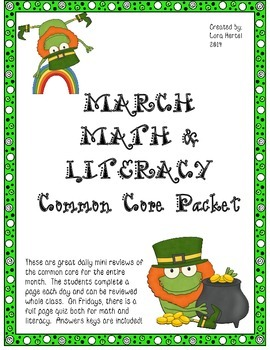 March Daily Common Core Third Grade Practice for Language