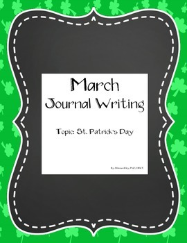 March Daily Journal Writing - St. Patrick's Day