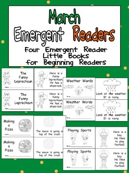 March Emergent Readers - A Book for Each Week- Weather, St