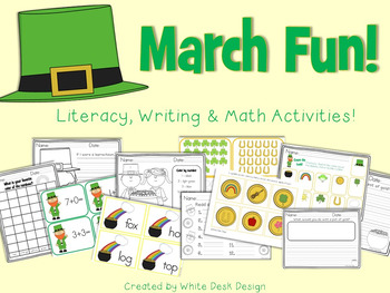 March Fun! {Literacy, Writing & Math Activities}