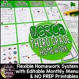Third Grade Homework March {35+ NO PREP Printables & Edita
