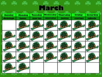 March Interactive Calendar
