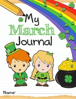 March Journal Kit Printables and SmartBoard, daily/weekly