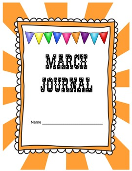 March Journal Prompts Printable Notebook Common Core W.1,