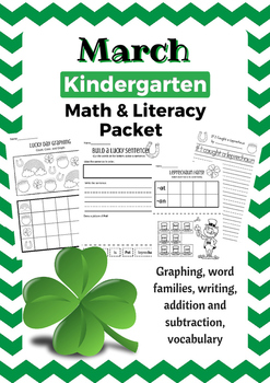 March Kindergarten Math & Literacy Packet - St. Patrick's