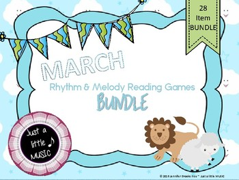 March Lion Lamb BUNDLE ~ 28 activities & games for rhythm