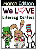 March Literacy Centers for Kindergarten