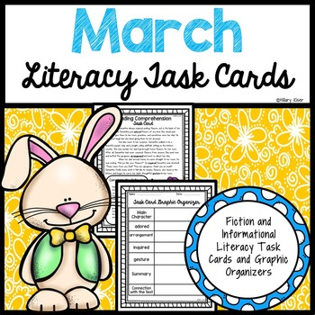 March Literacy Task Cards