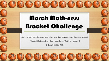March MATH-ness Bracket Challenge Gr 3
