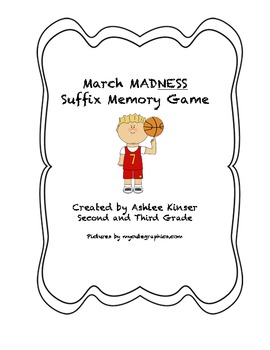 March MadNESS/ or Basketball Suffix Memory Game