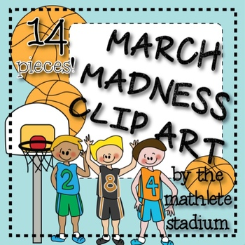 March Madness Basketball Clipart
