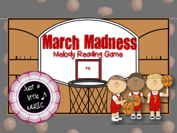 March Madness--Basketball Themed Melodic Reading Game {re}
