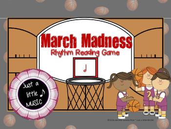 March Madness--Basketball Themed Rhythm Reading Game {ta-ah}
