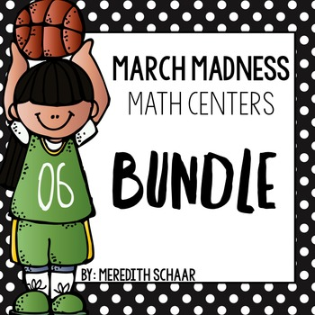 March Madness Math Centers {BUNDLE}