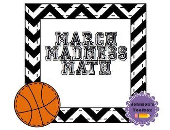 March Madness Math Statistics Activity