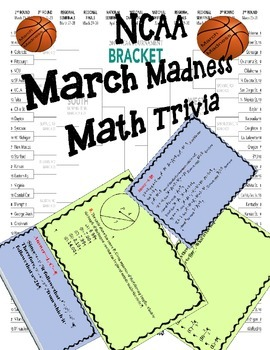 March Madness Math Trivia Cards