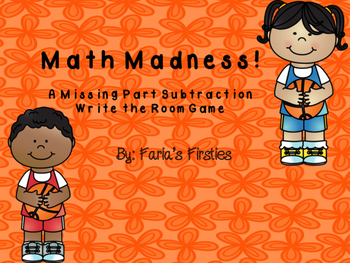 March Madness Missing Part Subtraction Write the Room
