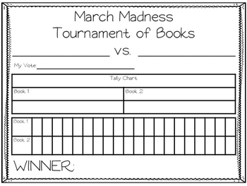 March Madness Tournament of Books Graph