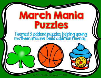 50% OFF!!! March Mania Math Puzzles