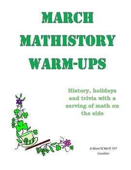 March MatHistory Warm-Ups