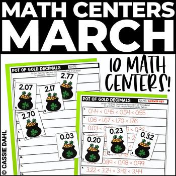 March Math Centers (Grades 3-5)