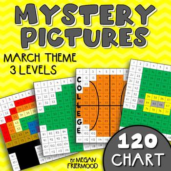 March Math Mystery Pictures {120 Chart} *DIFFERENTIATED* S