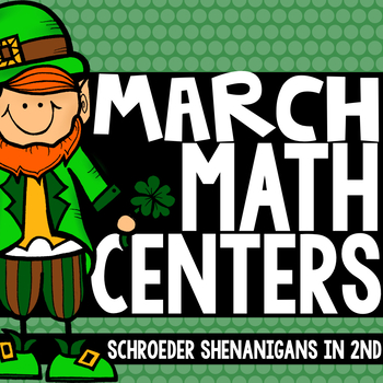 March Math Centers - math facts, place value, fact fluency