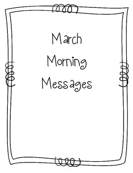 March Morning Message Book