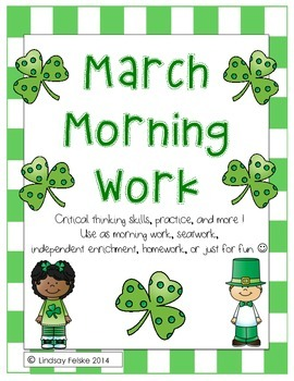 March Morning Work- Critical Thinking