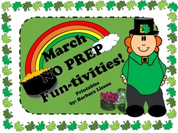 March NO PREP Funtivities: Math and Literacy Printables