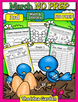 March NO PREP - Math & Literacy (Third)