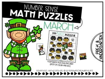 March Number Sense Math Puzzles