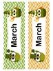 March Owl Calendar Cards and Headers