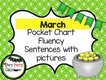 March Pocket Chart Fluency